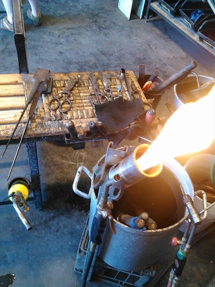 Hot shop Bench and torch