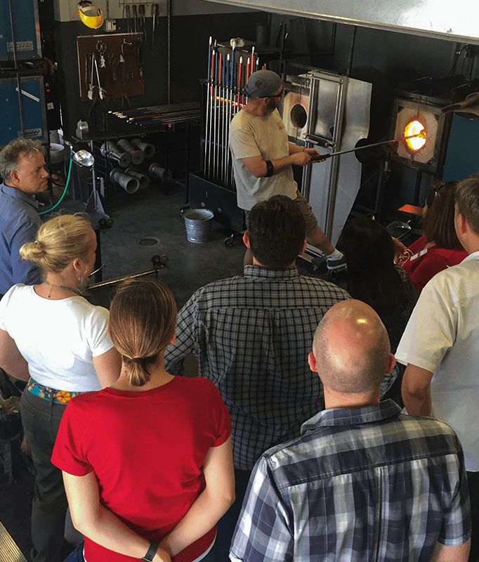 Glass Blowing Parties at Caliente Hot Glass