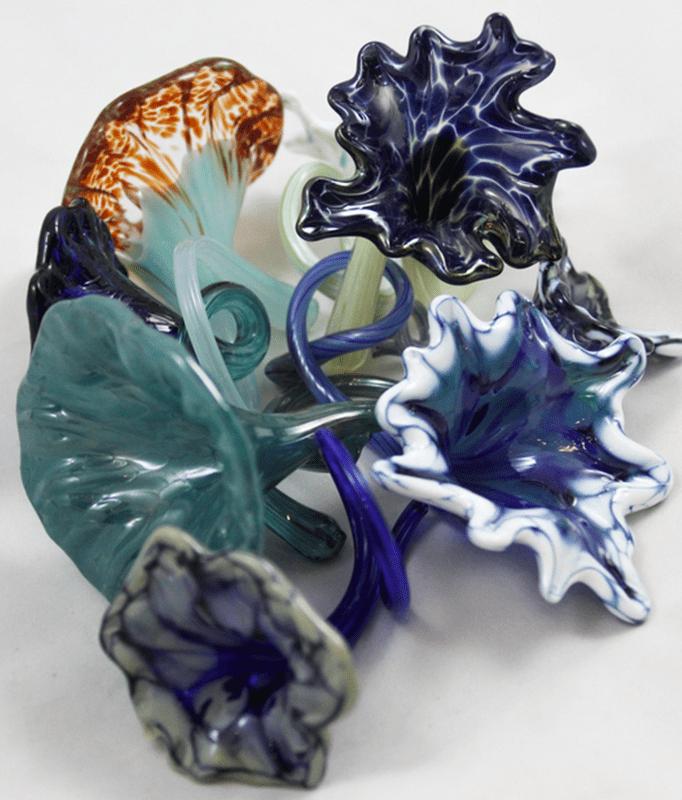 readymade glass art flowers